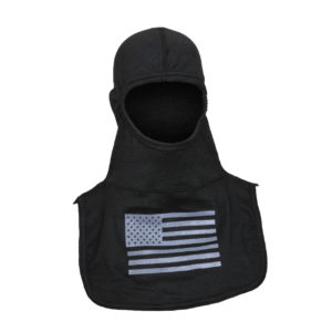 Fire Ink Black Hood with Grey Flag