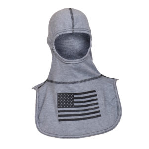 Fire Ink Grey Hood with Black Flag