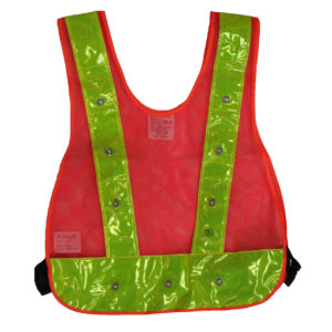 Class 1 - LED Vest Orange Mesh