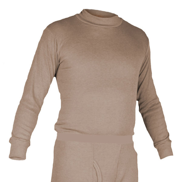 Long Underwear Fitted Mock Top Nomex Blend Tan (1ply)