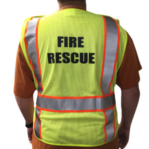 ANSI Class 2 Safety Vest FIRE RESCUE